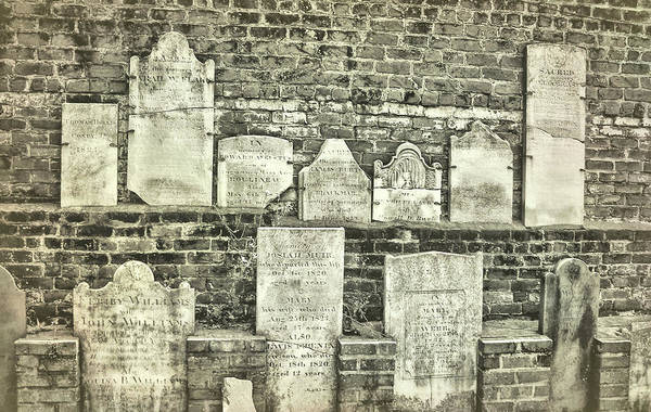 Photograph - Tombstones Of Savannah by JAMART Photography