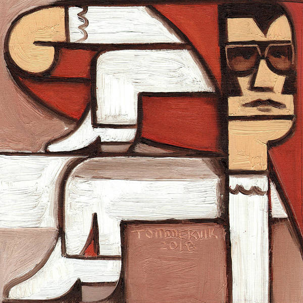 Wall Art - Painting - Tommervik Abstract Elvis Red Cape Art Print by Tommervik