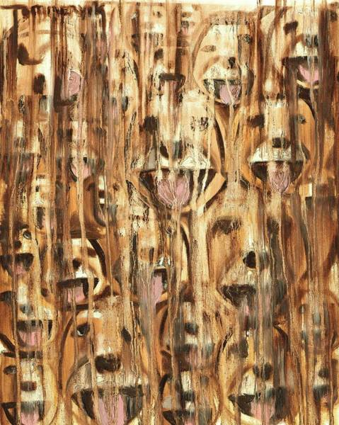 Wall Art - Painting - Tommervik Abstract Golden Retriever Drip Art Print by Tommervik