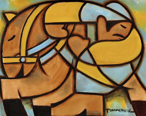 Painting - Tommervik Abstract Western Horse Ride Art Print by Tommervik