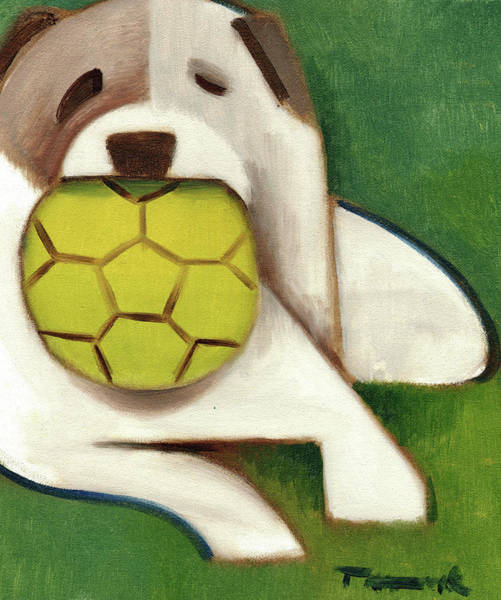 Painting - Tommervik Dog With Ball Art Print by Tommervik