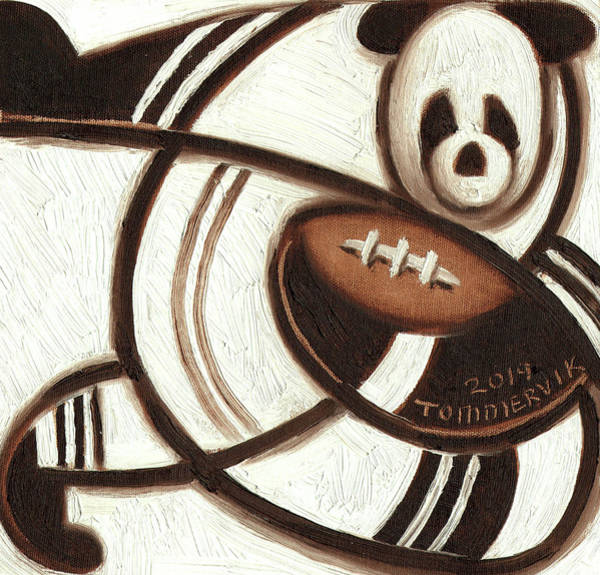 Painting - Tommervik Football Player Art Print by Tommervik