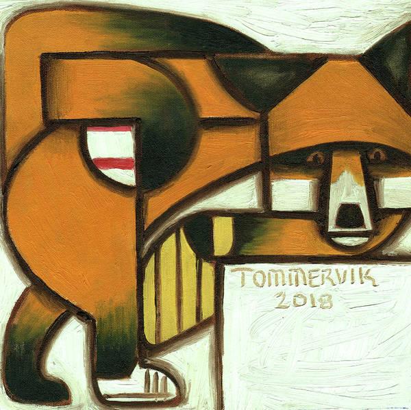 Painting - Tommervik Fox Baseball Player Art Print by Tommervik