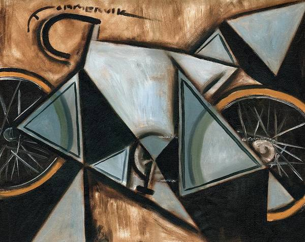 Painting - Tommervik Geometric Ten Speed Bike Art Print by Tommervik