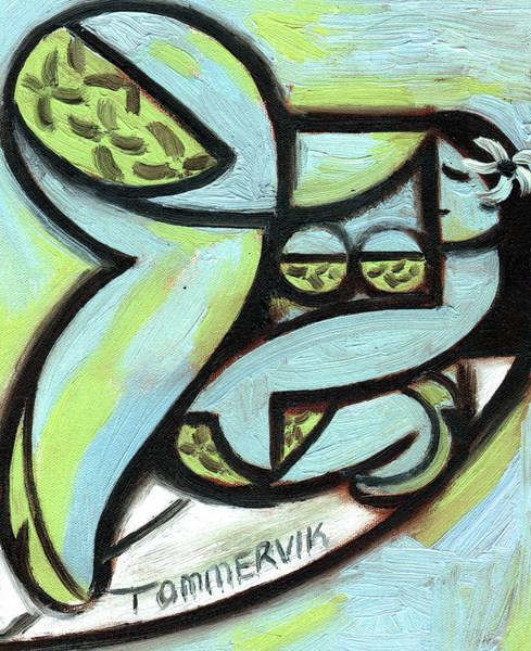 Painting - Tommervik Hawaiian Hula Surfer Art Print by Tommervik