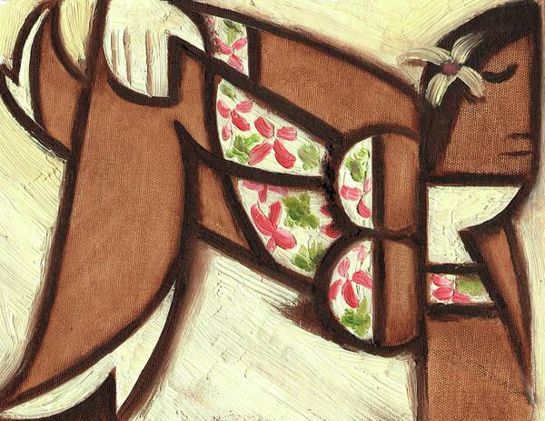 Painting - Tommervik Hawaiian Woman Lounging Art Print by Tommervik