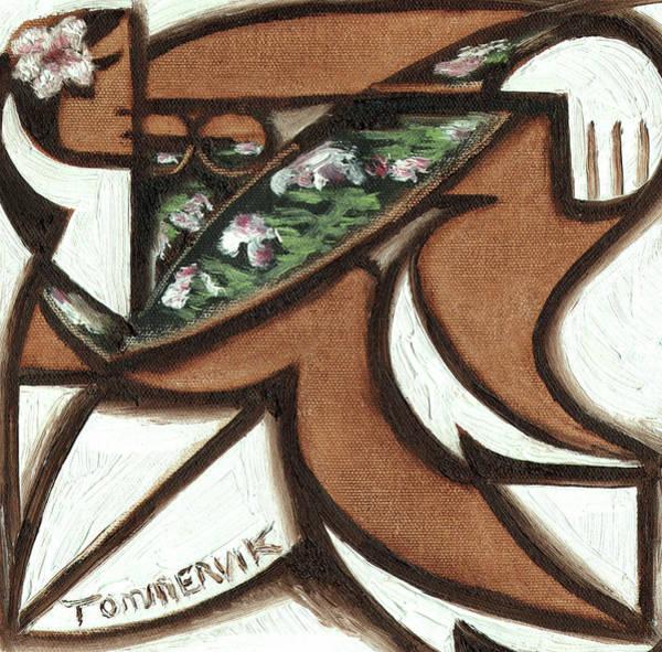 Painting - Tommervik Hawaiian Woman Sitting On Surfboard Art Print by Tommervik