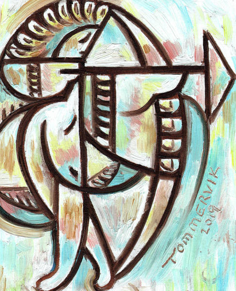 Painting - Tommervik Indian Shooting Bow And Arrow Art Print by Tommervik
