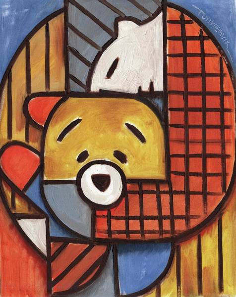 Painting - Tommervik Man And Teddy Bear Art Print by Tommervik