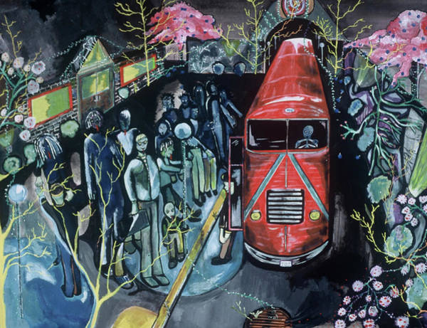 Painting - Tommervik Sacramento Bus Station Art Print by Tommervik