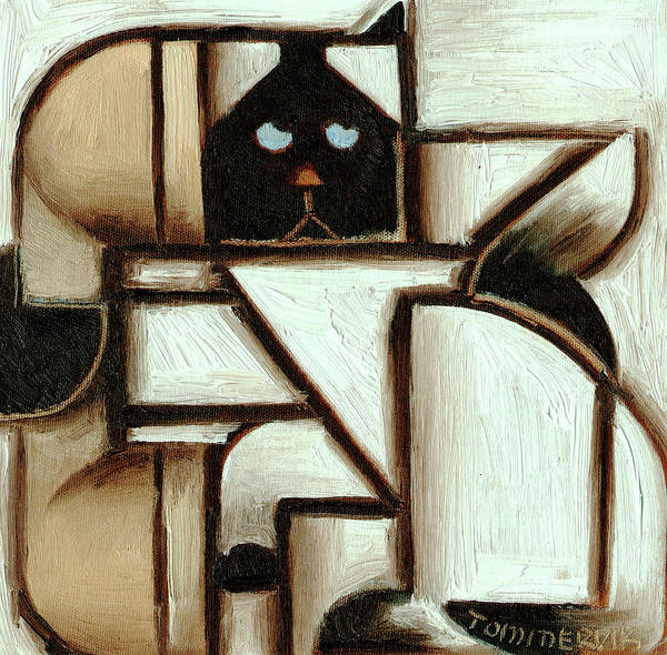 Painting - Tommervik Siamese Cat Call Art Print by Tommervik