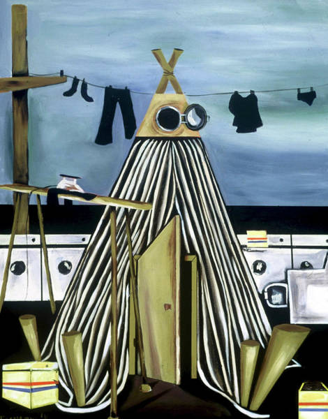 Painting - Tommervik Teepee Laundromat Art Print by Tommervik
