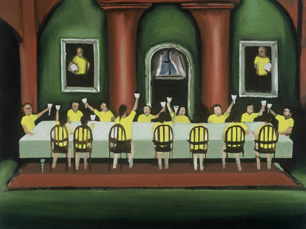 Painting - Tommervik The Last Soccer Game Art Print by Tommervik