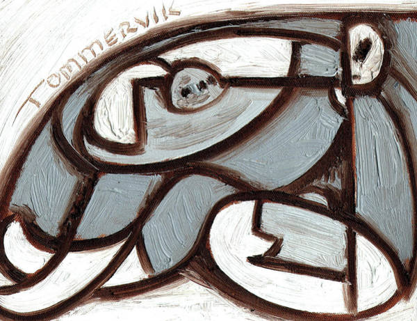 Painting - Tommervik Ufo Alien Holding Flying Saucers Art Print by Tommervik