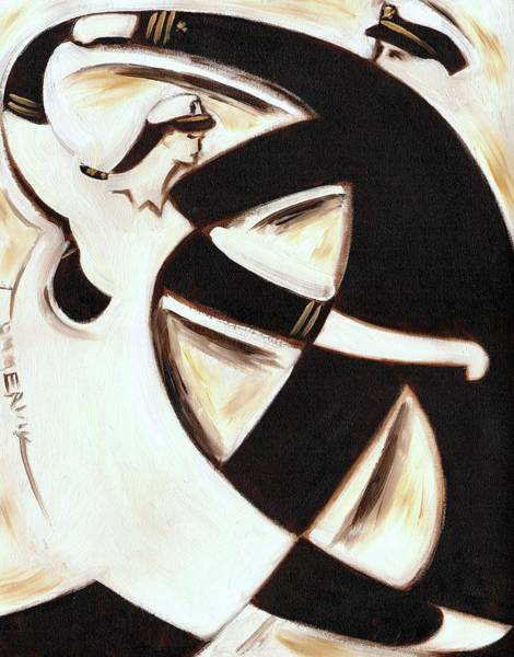 Painting - Tommervilk Sea Captain And Nurse Dancing Art Print by Tommervik