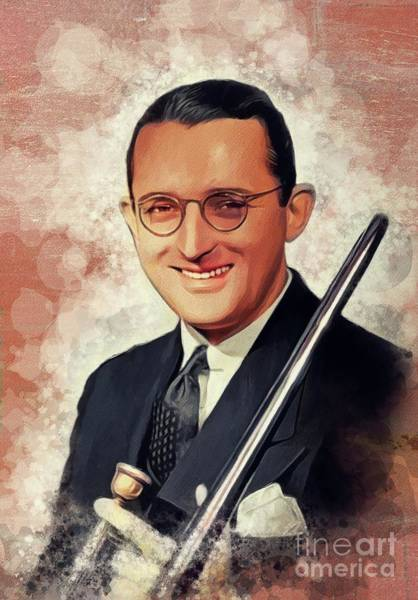 Wall Art - Painting - Tommy Dorsey, Music Legend by John Springfield