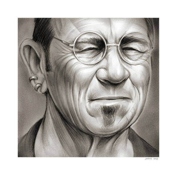 Wall Art - Drawing - Tommy Lee Jones by Greg Joens