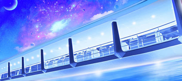 Wall Art - Photograph - Tomorrowland Transit Authority Peoplemover by Mark Andrew Thomas
