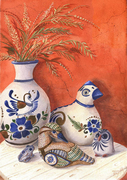 Painting - Tonala Pottery Still Life by Marilyn Smith