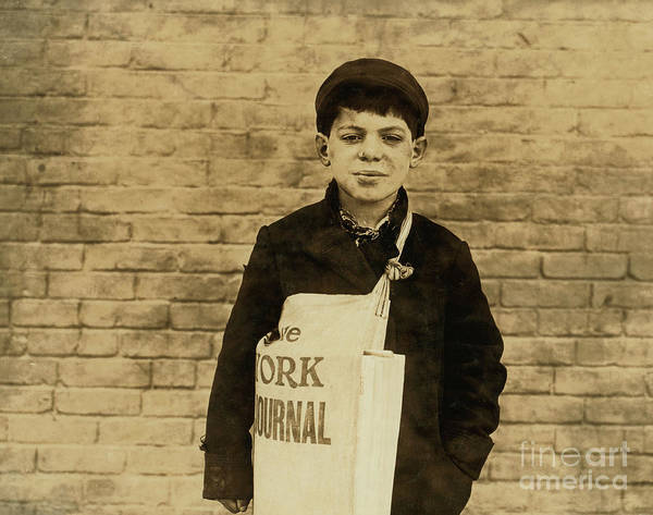 Wall Art - Photograph - Tony Casale Known As Bologna Aged 11 by Lewis Wickes Hine