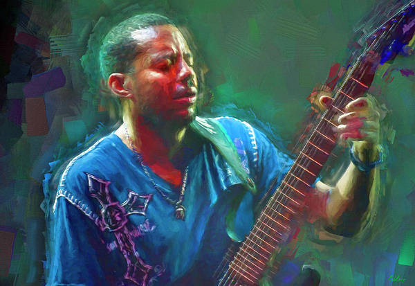 Wall Art - Mixed Media - Tony Macalpine by Mal Bray