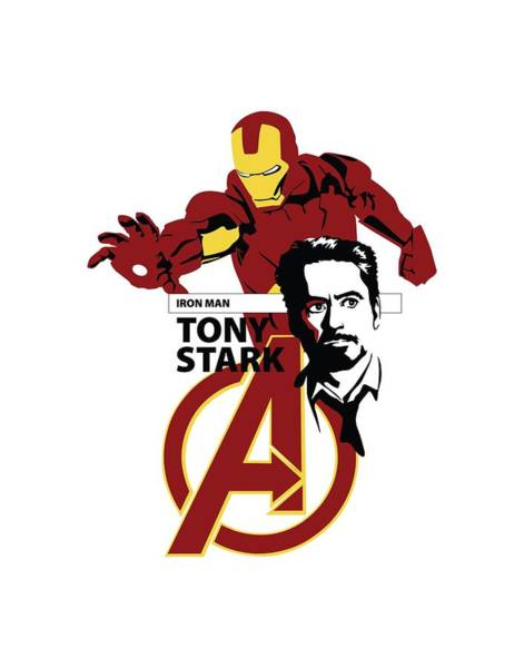 Tony Digital Art - Tony Stark Iron Man by Geek N Rock