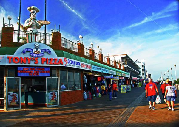 Photograph - Tony's Pizza. Boardwalk In Ocean City, Md by Bill Jonscher