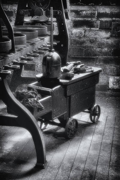 Wall Art - Photograph - Tool Cart Bw by Jerry Fornarotto