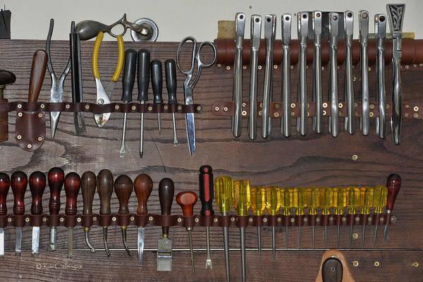 Wall Art - Photograph - Tools For Saddle Making by Kae Cheatham