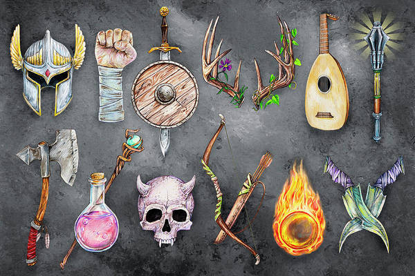 Mixed Media - Tools Of The Trade - Fantasy Rpg by Aaron Spong