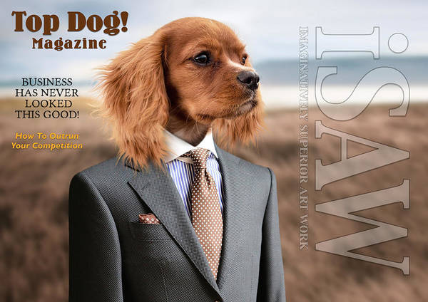 Digital Art - Top Dog Magazine by ISAW Company