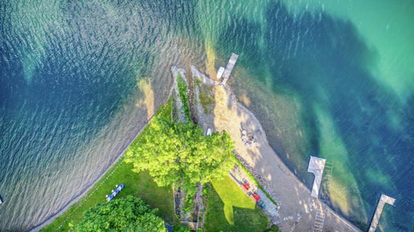 Photograph - Top Down Keuka Lake 2019 by Ants Drone Photography
