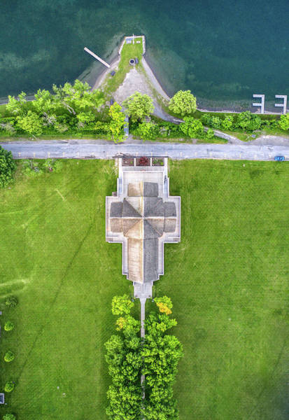 Photograph - Top Down View Of Norton Chapel by Ants Drone Photography