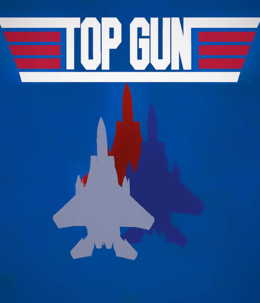 Mixed Media - Top Gun Movie Poster by Dan Sproul