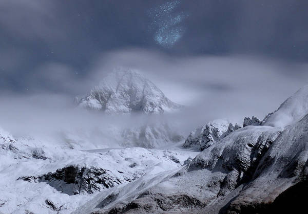 Wall Art - Photograph - Mountains In Clouds by Alex Lim