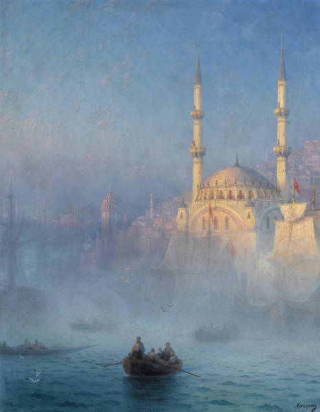Wall Art - Painting - Top-kahne Mosque, The Nusretiye Mosque In Tophane, Istanbul by Ivan Konstantinovich Aivazovsky