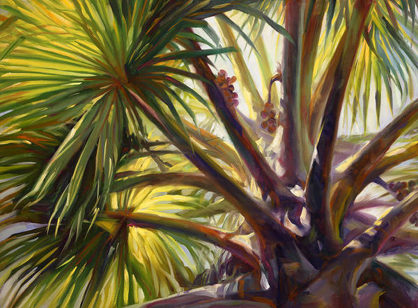 Wall Art - Painting - Top Of Palm by Laurie Snow Hein