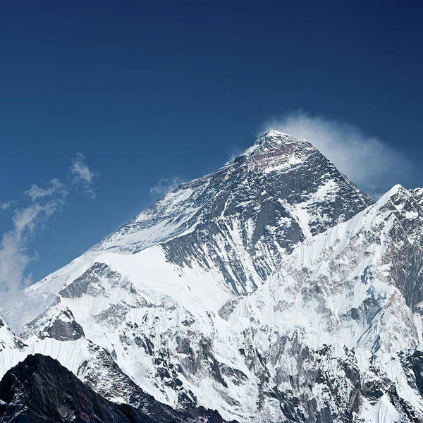 Wall Art - Photograph - Top Of The World - Mount Everest by Hadynyah