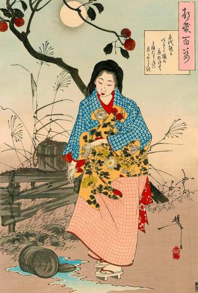 Wall Art - Painting - Top Quality Art - Adachi Chiyono by Tsukioka Yoshitoshi