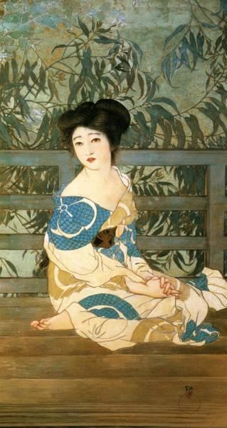 Geisha Painting - Top Quality Art - After Bath by Kitano Tsunetomi