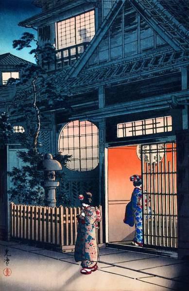 Geisha Painting - Top Quality Art - Arakiyokocho by Tsuchiya Koitsu