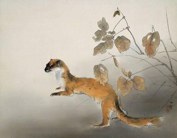 Weasel Wall Art - Painting - Top Quality Art - Autumn Farm by Hashimoto Kansetsu
