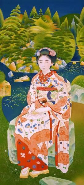 Geisha Painting - Top Quality Art - Bukirinsen by Tsuchida Bakusen
