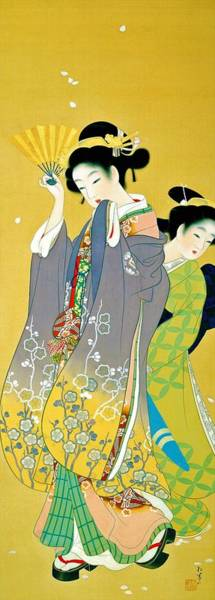 Wall Art - Painting - Top Quality Art - Cherry Blossom Viewing by Uemura Shoen