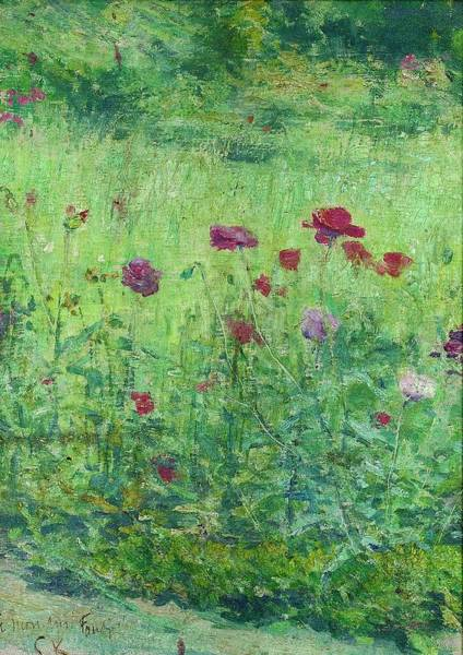 Poppie Painting - Top Quality Art - Field Poppies by Kuroda Seiki