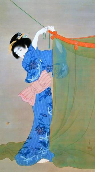 Firefly Painting - Top Quality Art - Firefly by Uemura Shoen