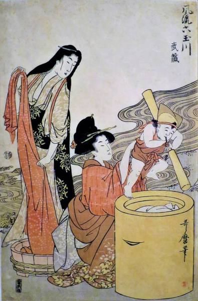 Wall Art - Painting - Top Quality Art - Furyu Mutamagawa by Kitagawa Utamaro