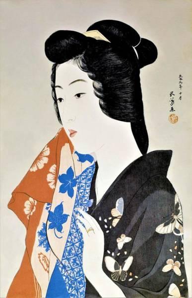 Geisha Painting - Top Quality Art - Geisha Hisae by Hashiguchi Goyo