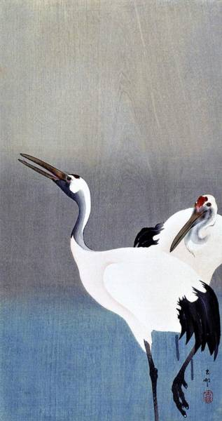 Wall Art - Painting - Top Quality Art - Grus Japonensis by Ohara Koson