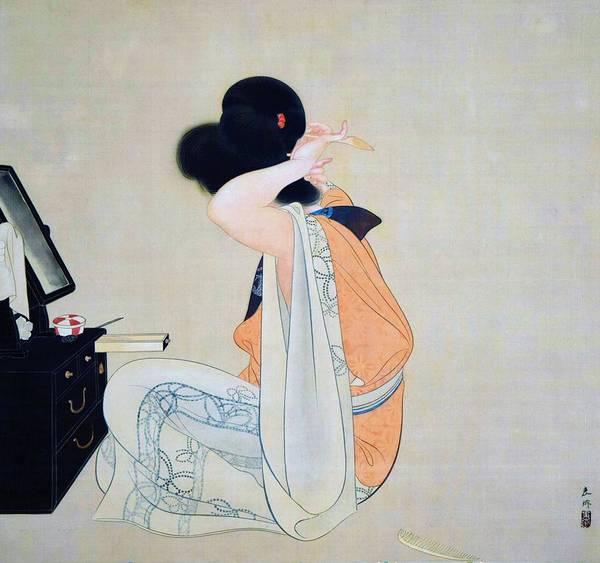 Wall Art - Painting - Top Quality Art - Hair by Tsuchida Bakusen